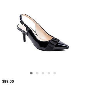 Adrienne vittadini patent leather slingback heel!!